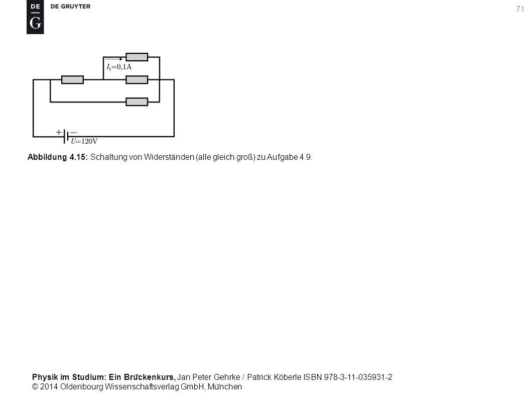 Abbildung 4.15: Schaltung von Widerständen (alle gleich groß) zu Aufgabe 4.9.