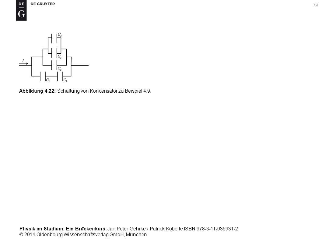 Abbildung 4.22: Schaltung von Kondensator zu Beispiel 4.9.