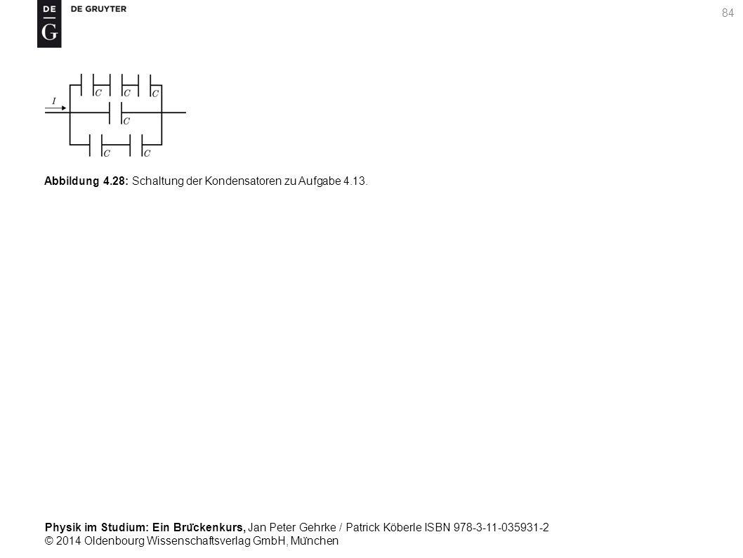 Abbildung 4.28: Schaltung der Kondensatoren zu Aufgabe 4.13.