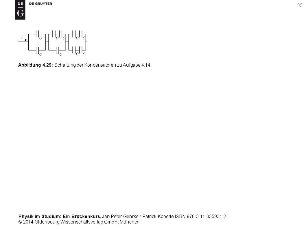 Abbildung 4.29: Schaltung der Kondensatoren zu Aufgabe 4.14.