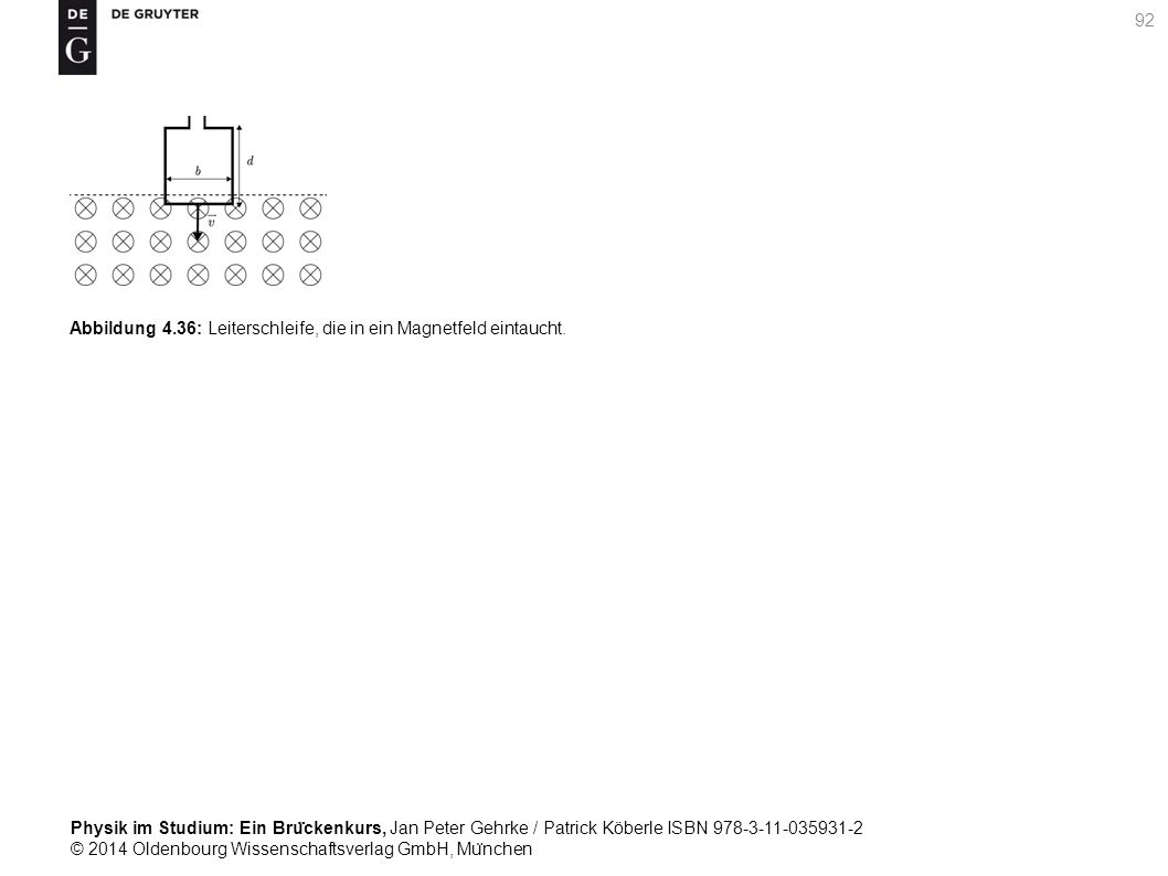 Abbildung 4.36: Leiterschleife, die in ein Magnetfeld eintaucht.