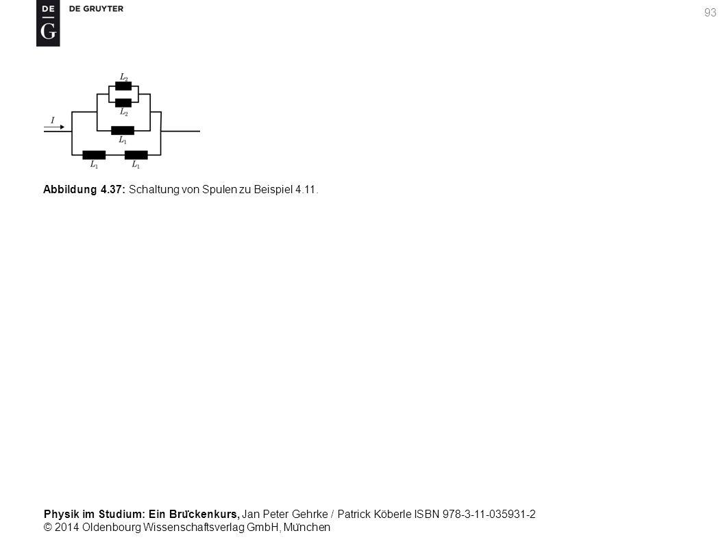 Abbildung 4.37: Schaltung von Spulen zu Beispiel 4.11.