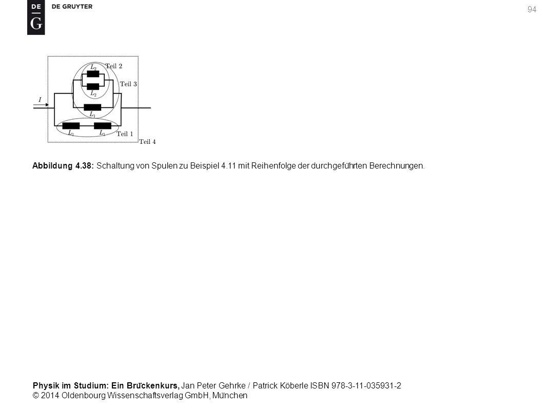 Abbildung 4. 38: Schaltung von Spulen zu Beispiel 4