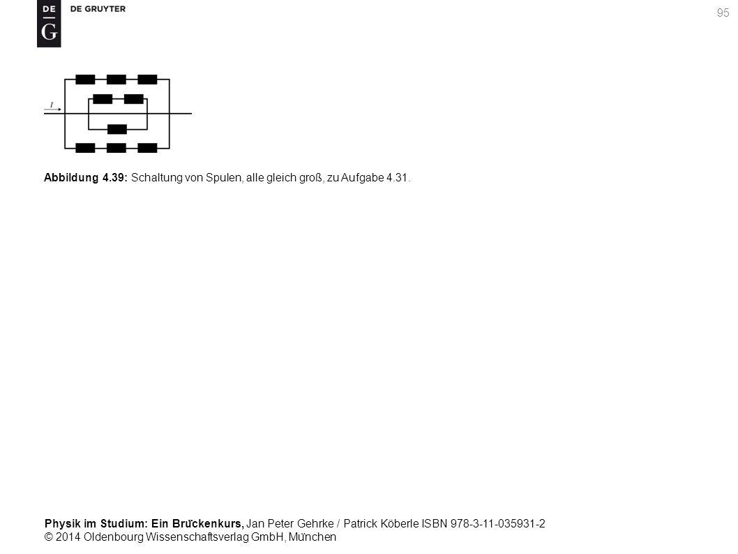 Abbildung 4. 39: Schaltung von Spulen, alle gleich groß, zu Aufgabe 4