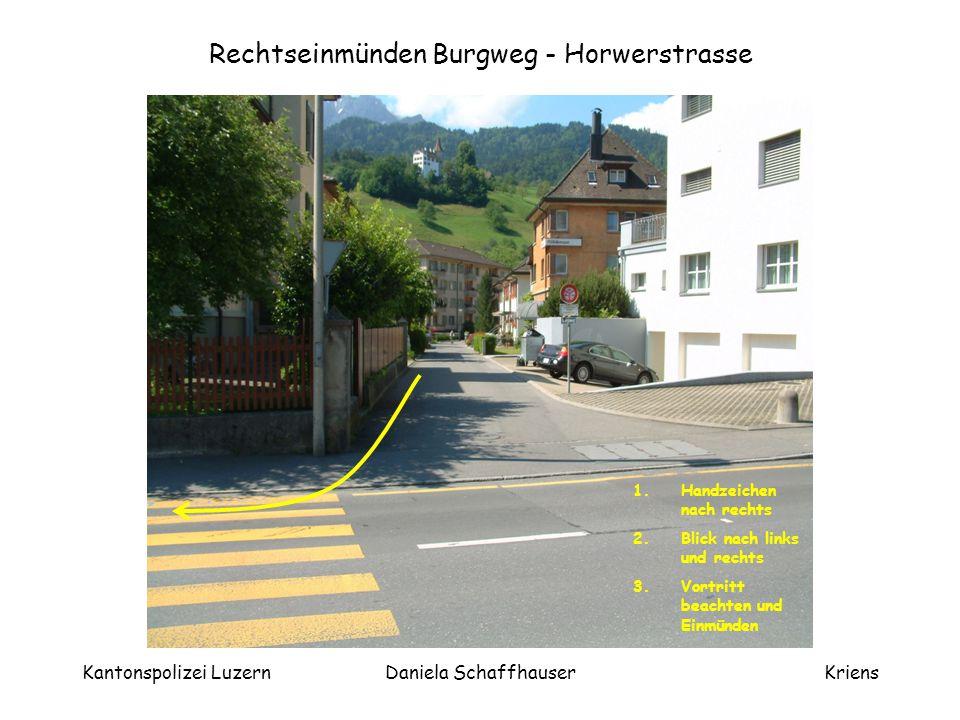 Rechtseinmünden Burgweg - Horwerstrasse