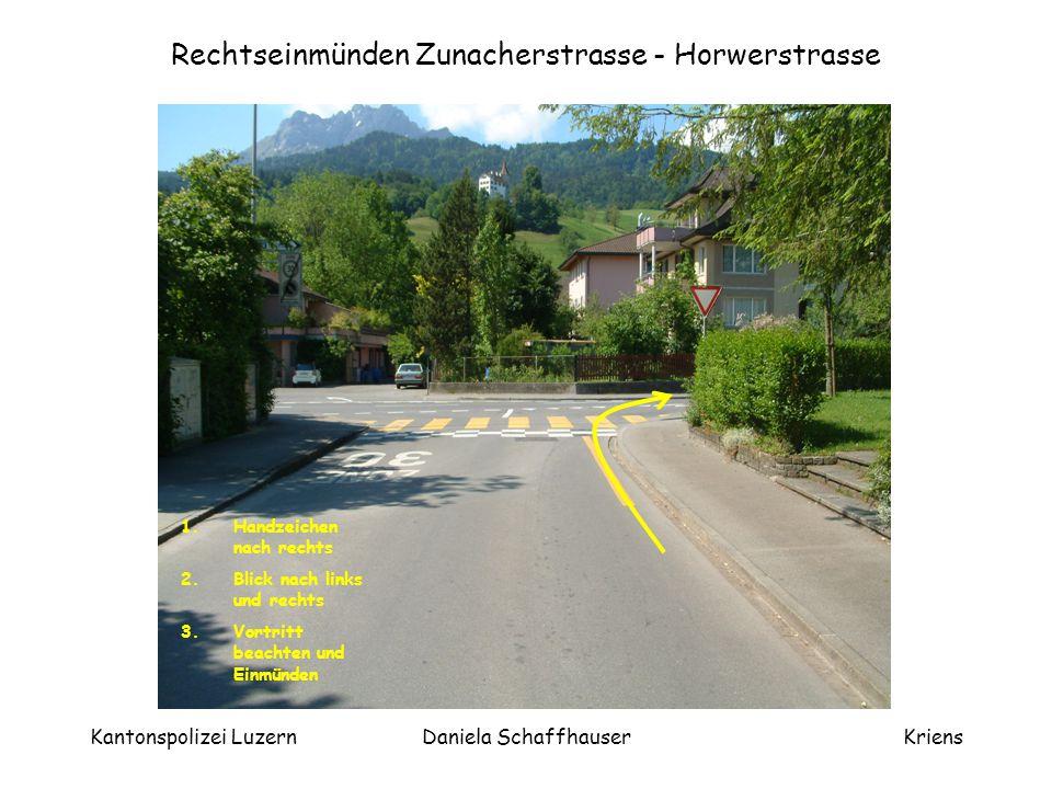 Rechtseinmünden Zunacherstrasse - Horwerstrasse