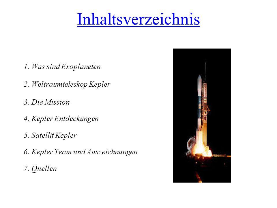 Inhaltsverzeichnis 1. Was sind Exoplaneten 2. Weltraumteleskop Kepler