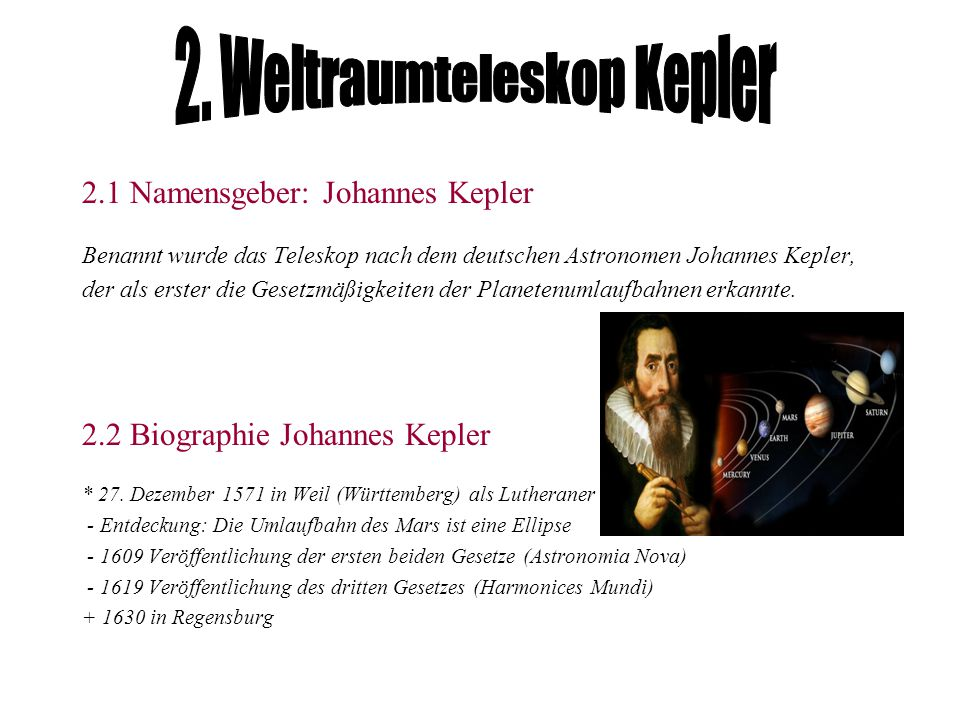 2. Weltraumteleskop Kepler