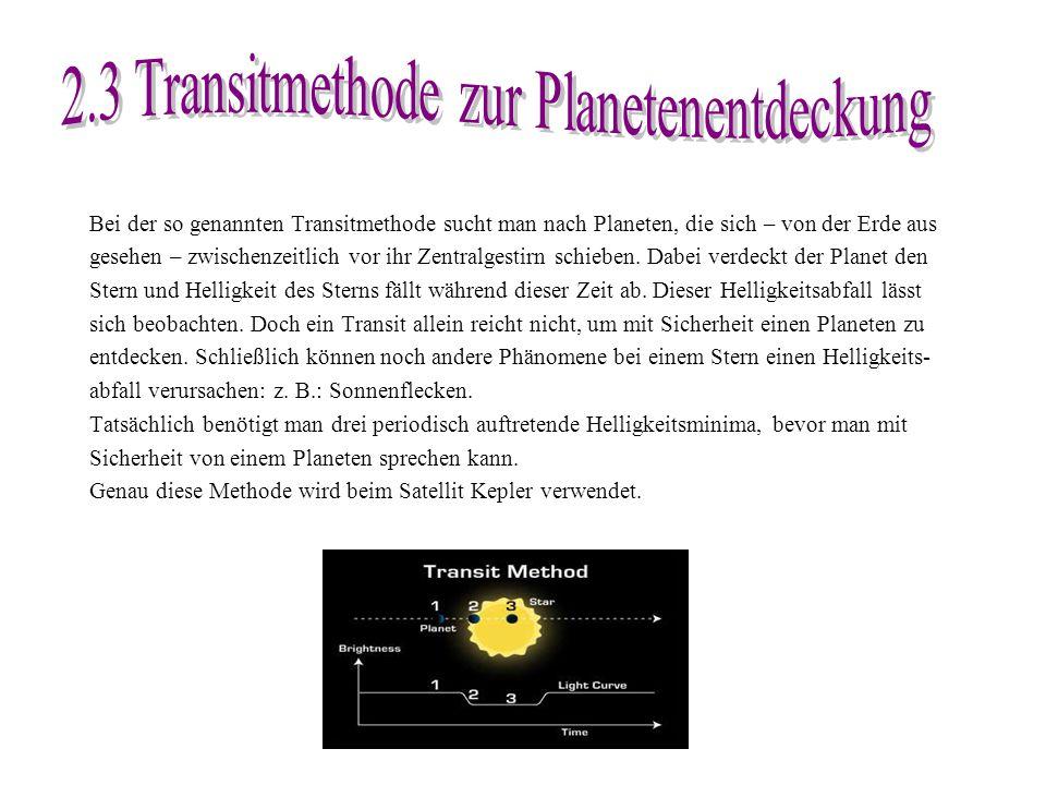 2.3 Transitmethode zur Planetenentdeckung