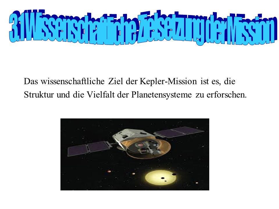 3.1 Wissenschaftliche Zielsetzung der Mission