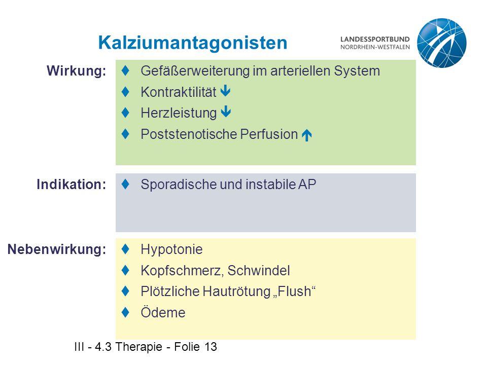 Kalziumantagonisten Wirkung: Gefäßerweiterung im arteriellen System
