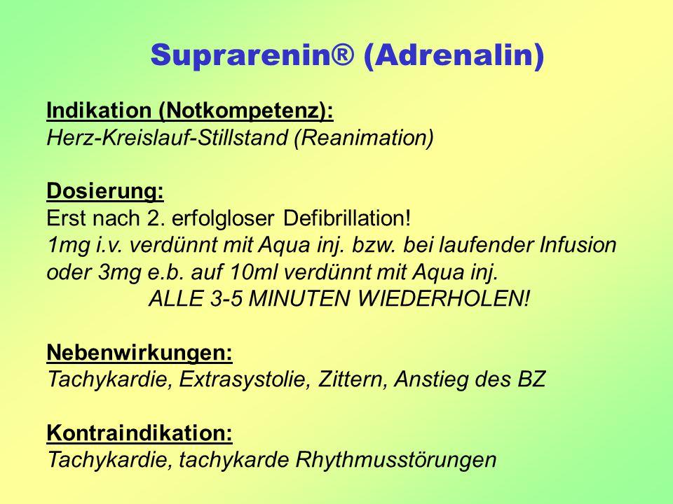 Suprarenin® (Adrenalin)