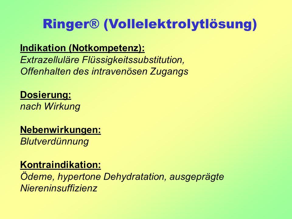 Ringer® (Vollelektrolytlösung)