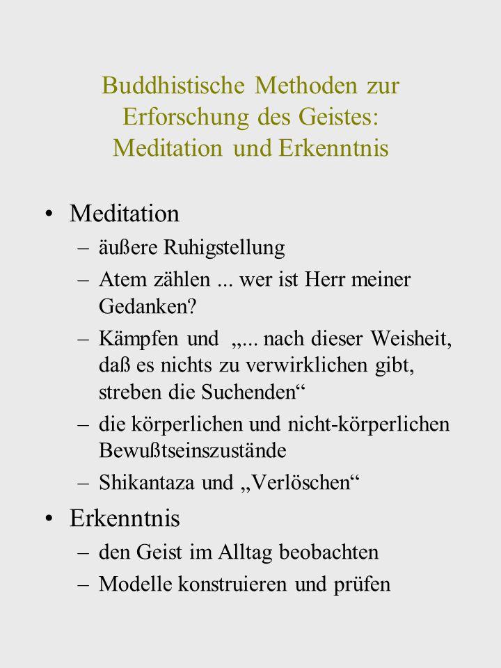 Buddhistische Methoden zur Erforschung des Geistes: Meditation und Erkenntnis