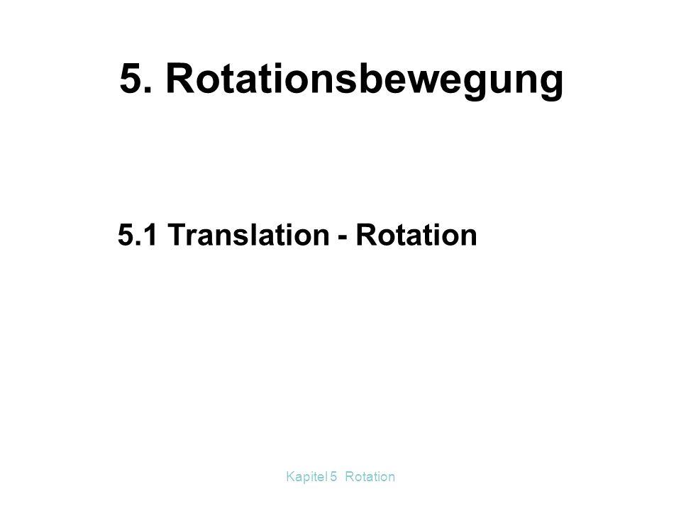 5. Rotationsbewegung 5.1 Translation - Rotation Kapitel 5 Rotation