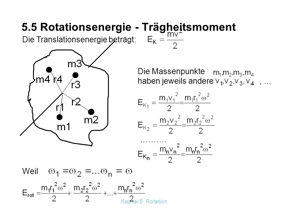 5.5 Rotationsenergie - Trägheitsmoment