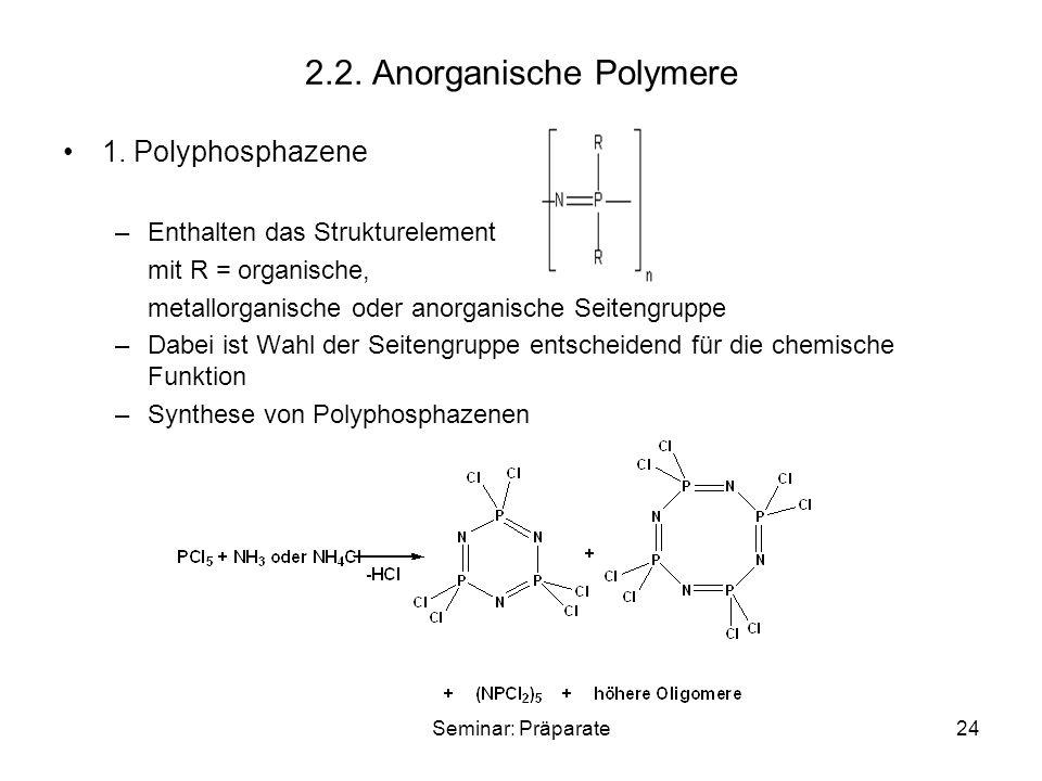 2.2. Anorganische Polymere
