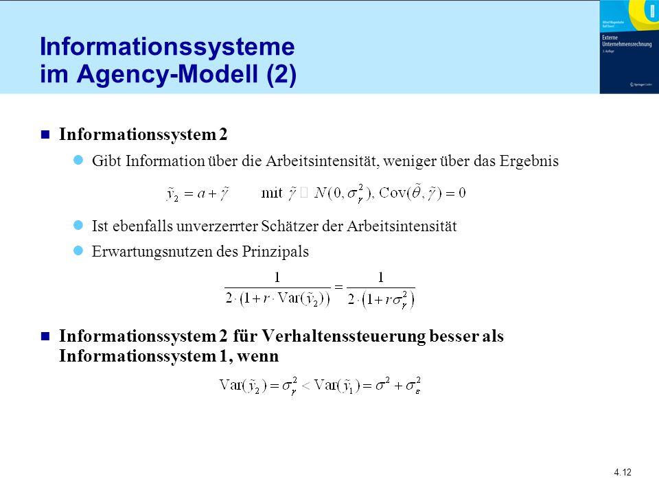 Informationssysteme im Agency-Modell (2)