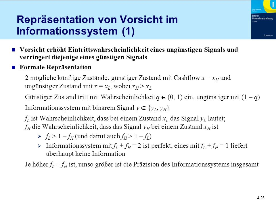 Repräsentation von Vorsicht im Informationssystem (1)