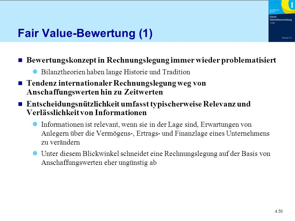 Fair Value-Bewertung (1)