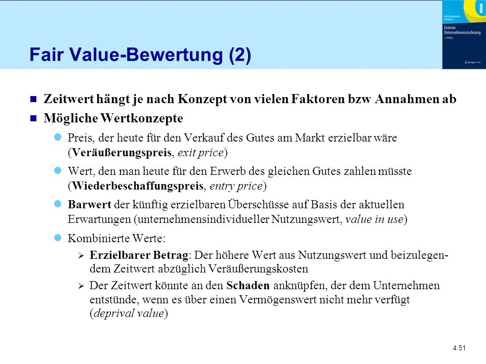 Fair Value-Bewertung (2)