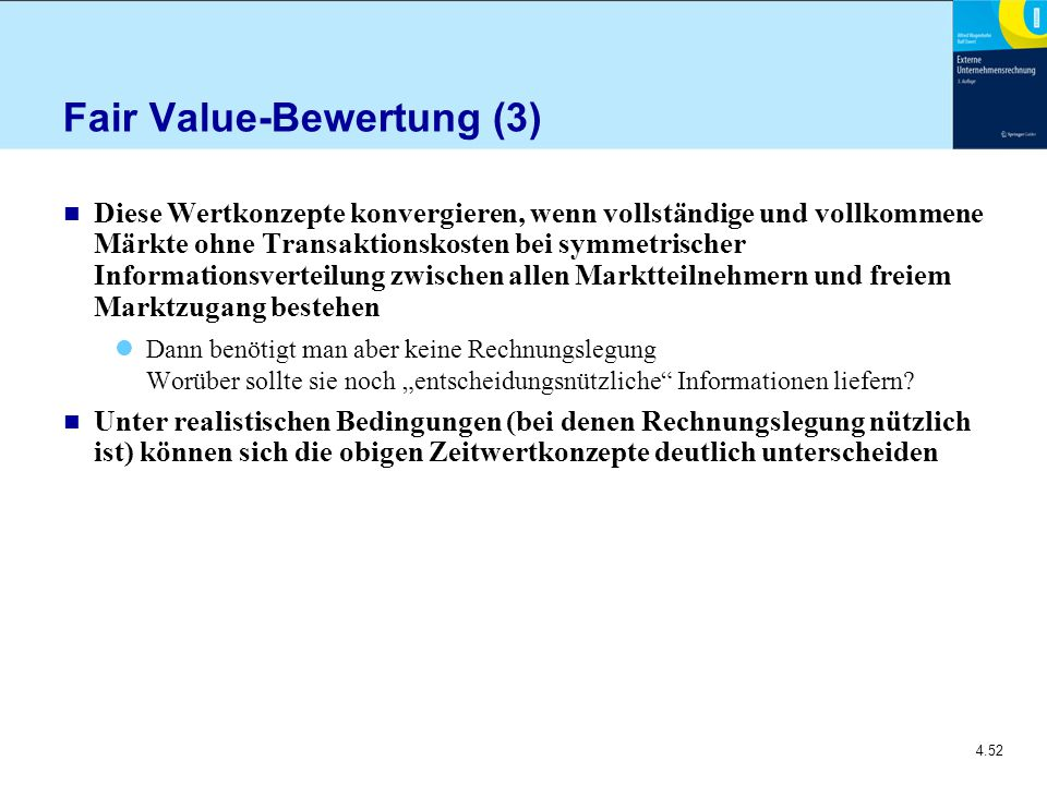 Fair Value-Bewertung (3)