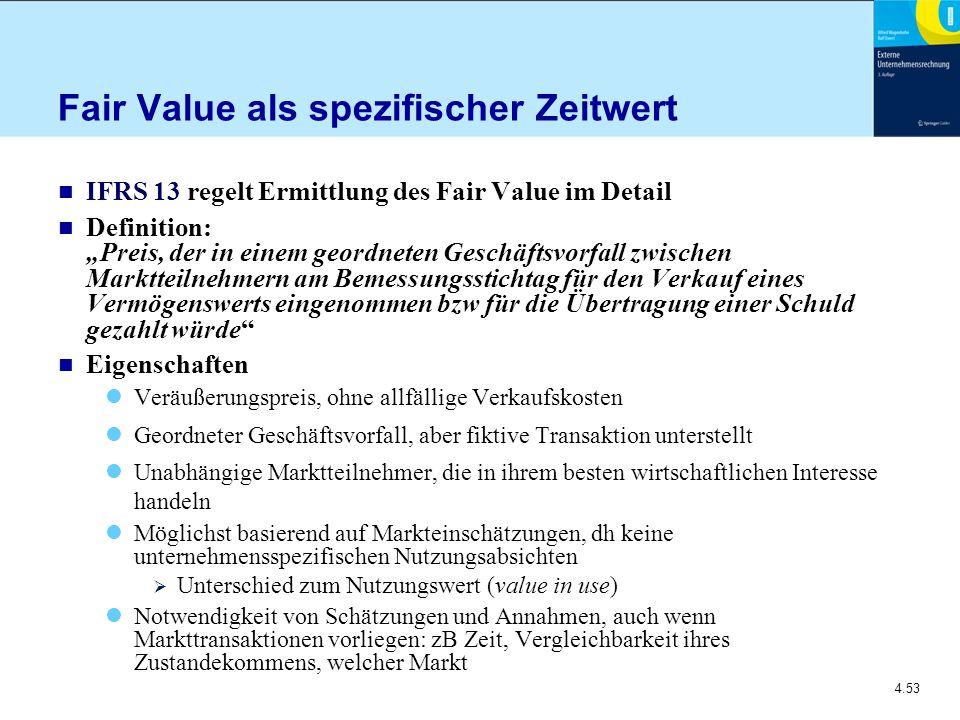 Fair Value als spezifischer Zeitwert