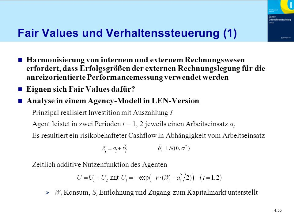 Fair Values und Verhaltenssteuerung (1)