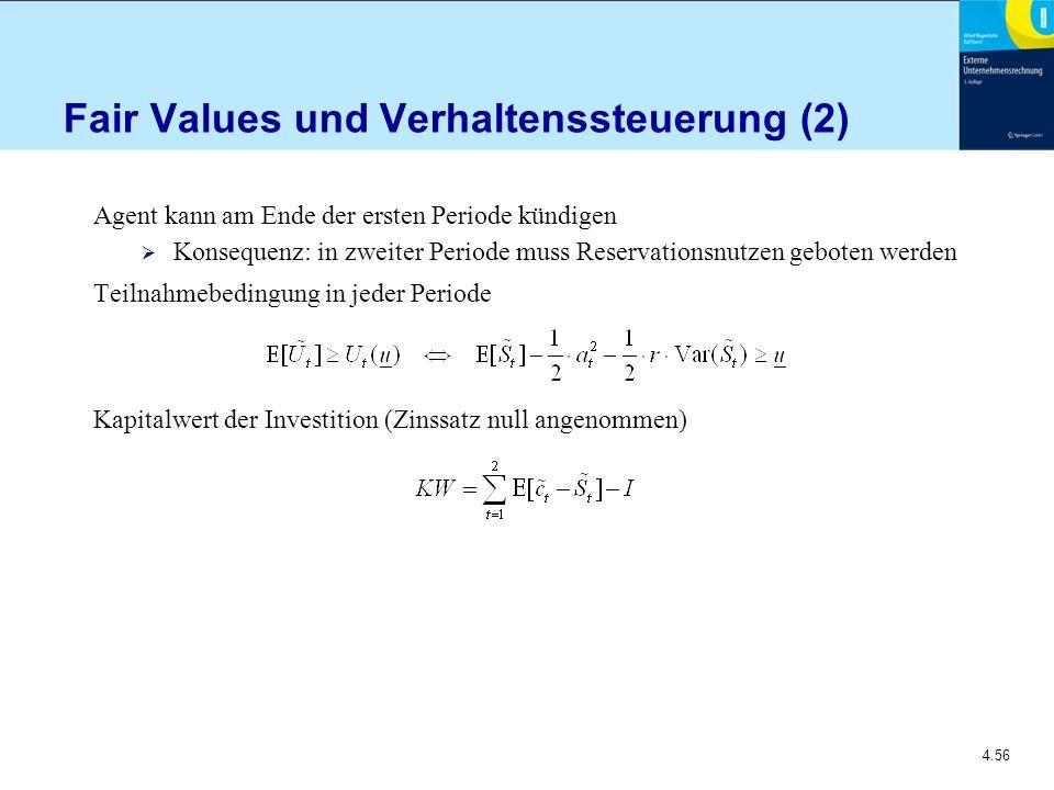 Fair Values und Verhaltenssteuerung (2)