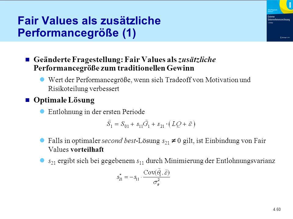 Fair Values als zusätzliche Performancegröße (1)