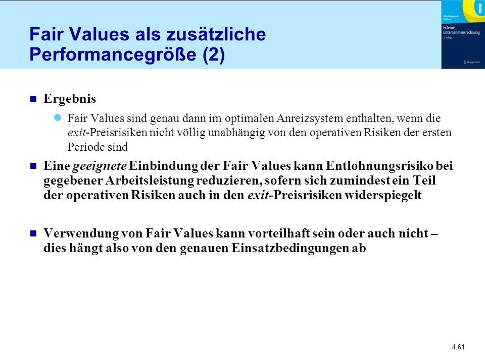 Fair Values als zusätzliche Performancegröße (2)