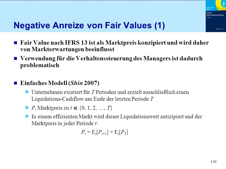 Negative Anreize von Fair Values (1)