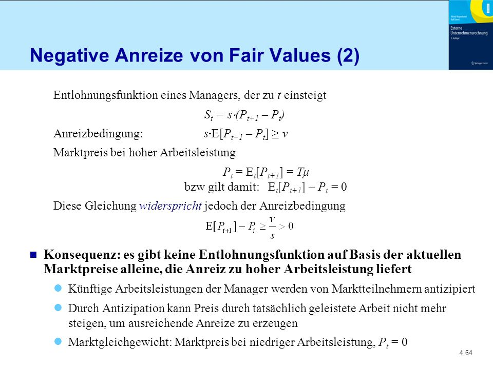 Negative Anreize von Fair Values (2)