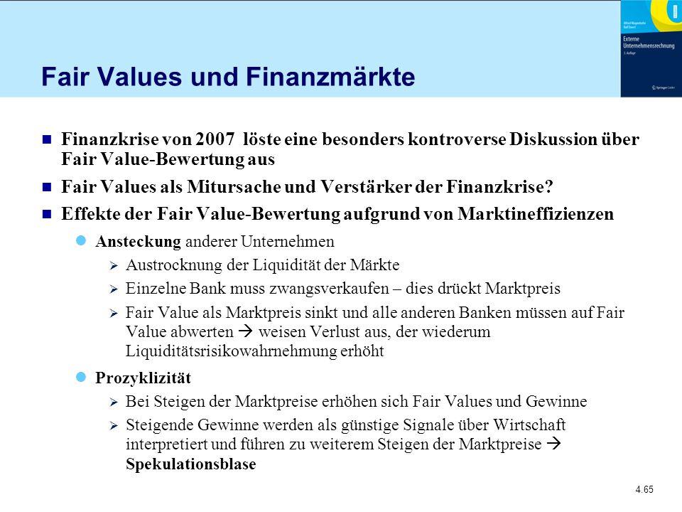Fair Values und Finanzmärkte