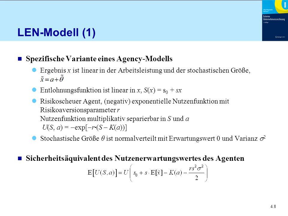 LEN-Modell (1) Spezifische Variante eines Agency-Modells