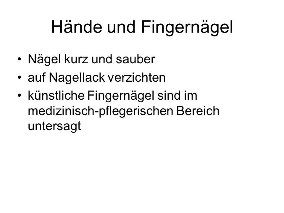 Hände und Fingernägel Nägel kurz und sauber auf Nagellack verzichten