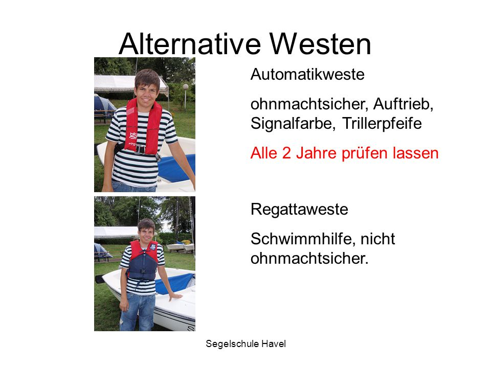Alternative Westen Automatikweste