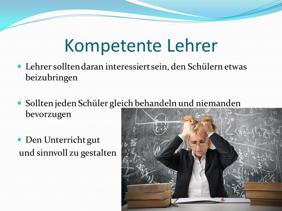 Kompetente Lehrer Lehrer sollten daran interessiert sein, den Schülern etwas beizubringen.