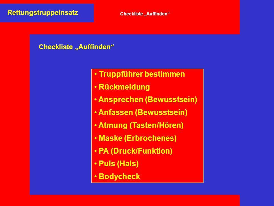 """Checkliste """"Auffinden"""