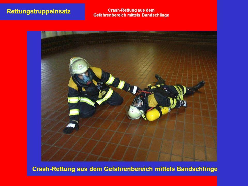 Crash-Rettung aus dem Gefahrenbereich mittels Bandschlinge