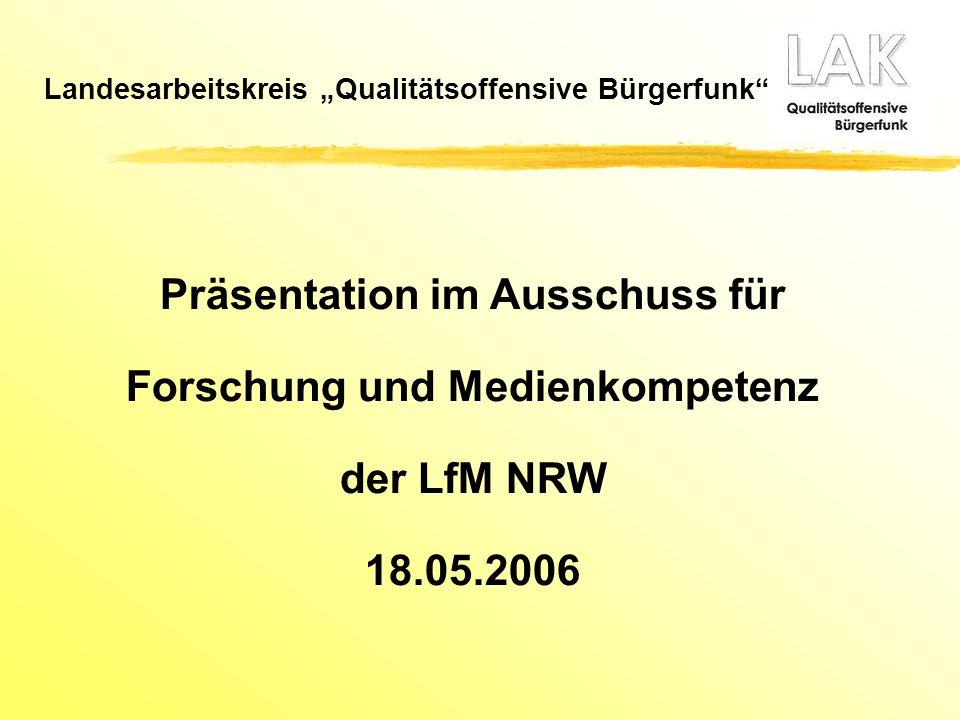 Präsentation im Ausschuss für Forschung und Medienkompetenz