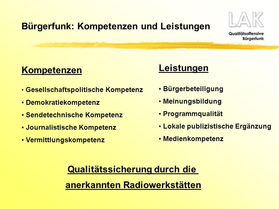 Qualitätssicherung durch die anerkannten Radiowerkstätten