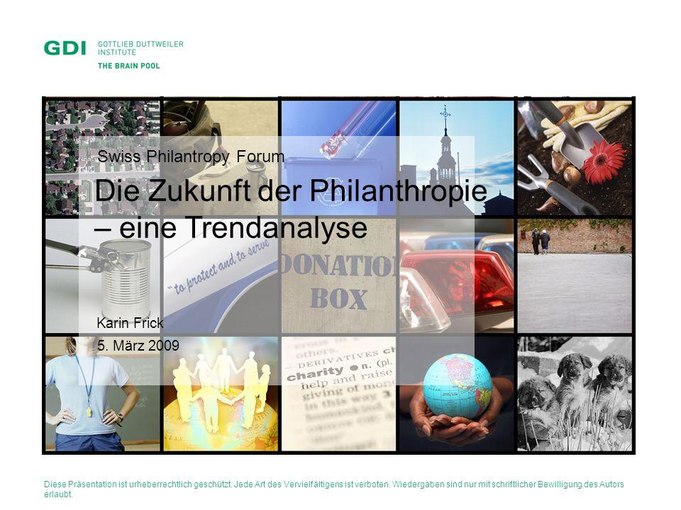 Die Zukunft der Philanthropie – eine Trendanalyse