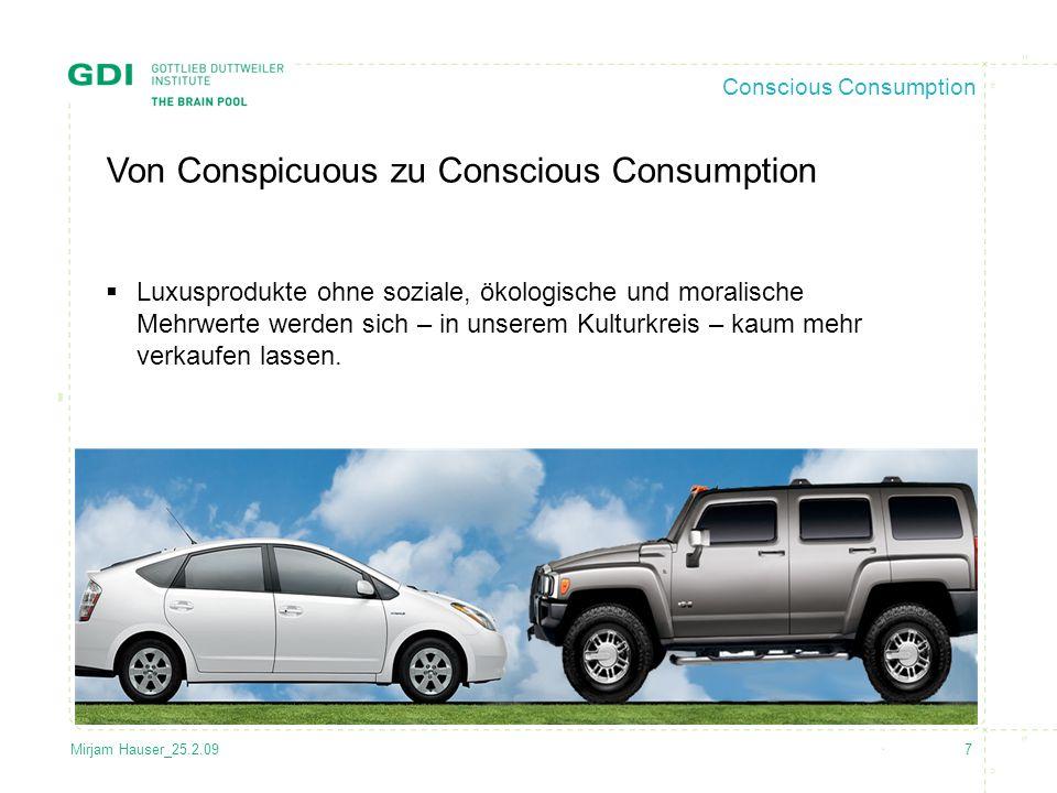Von Conspicuous zu Conscious Consumption