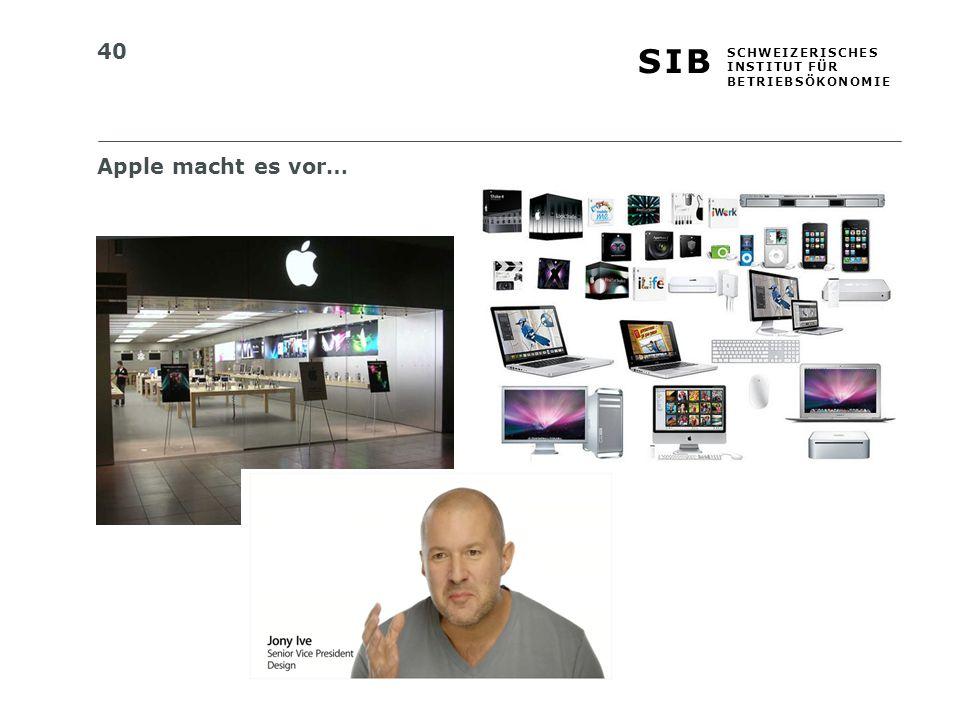 Apple macht es vor…