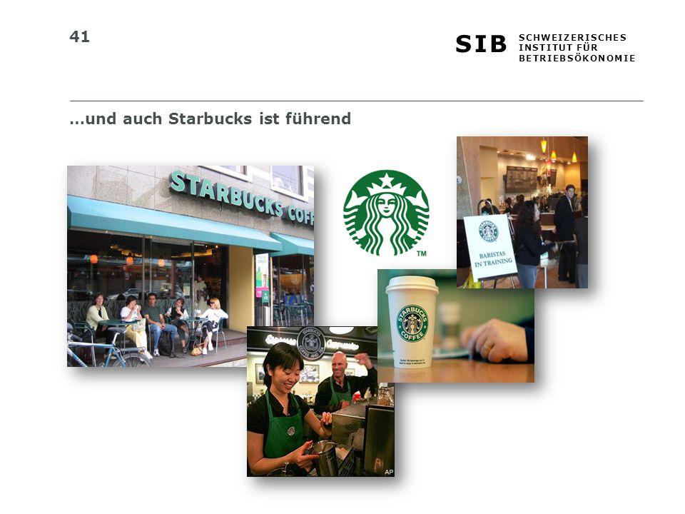 …und auch Starbucks ist führend