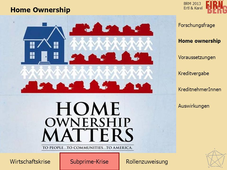 Home Ownership Subprime-Krise Home ownership