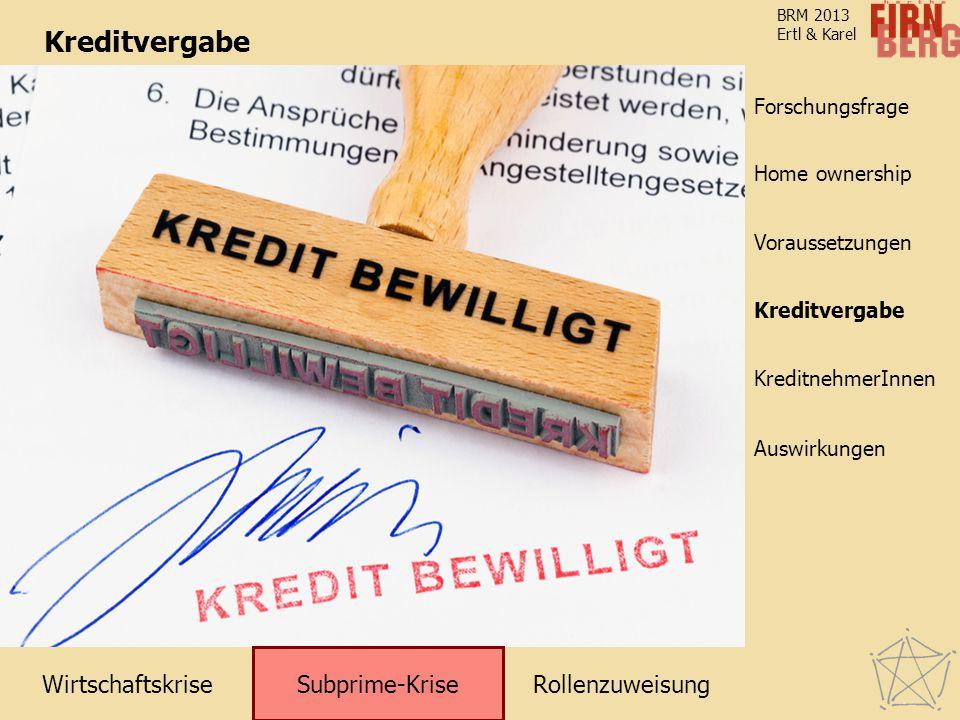 Kreditvergabe Subprime-Krise Kreditvergabe