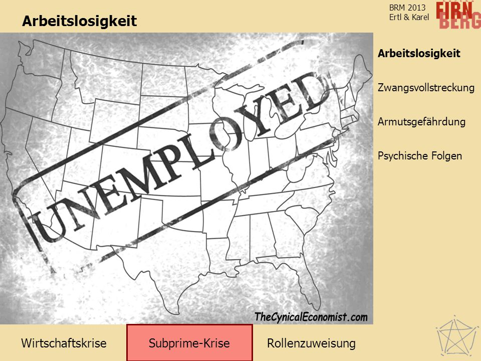 Arbeitslosigkeit Subprime-Krise Arbeitslosigkeit