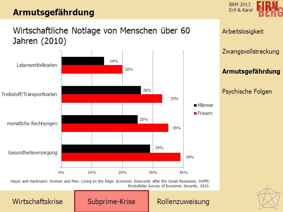Wirtschaftliche Notlage von Menschen über 60 Jahren (2010)